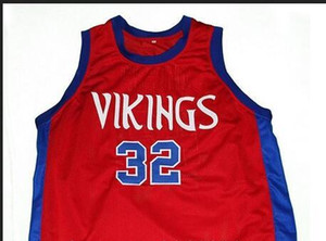 # 32 VIKINGS M. JOHNSON LİSESİ Koleji Basketbol Jersey Boyut S-4XL Vintage veya özel herhangi bir ad veya numara forması Custom Erkekler Gençlik kadınlar