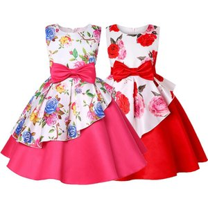 Bow Flower Dress For Girls Birthday Present Wedding Party Princess Girls Dress Toddler Girl Dresses Costume Kids Clothes