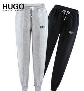 BOSS Mens Joggers Casual Calças de fitness Sportswear Calça de Jogging magros Sweatpants calças pretas Gym Jogger Musculação trilha Pan