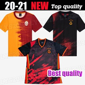 20 21 Galatasaray Jerseys 2020 2021 Terceiro Jersey Gomis Linnes Cigerci Belhanda Fernando FeGhouli Donk Home Away Futebol Camisas