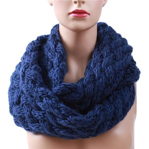 Winter Outdoor Running Ring Scarf Women Cold Protection Knitting Infinity Scarves Knitted Warm Windproof Neck Circle Scarf