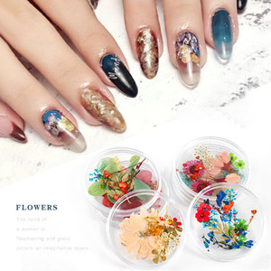 2 box bags Dry Flowers Nail Art Decorations 3D Natural Mixed Package In Box DIY 2020 Summer New Design Japanese Stye Nail Art Salon
