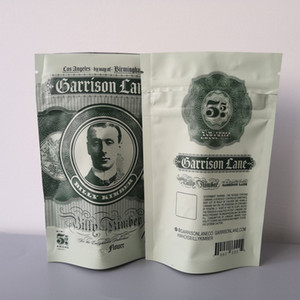 New 3.5 grams Garrison Lane Smell Proof Bags Flavors Billy Kimber Child Proof Stand Up Pouch Dry Herb Flowers Packaging