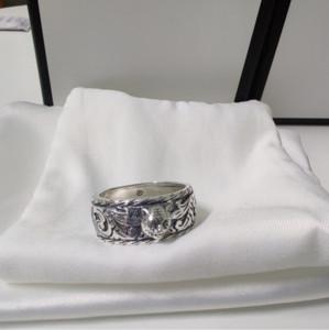 Hot vente de tête de tigre 925 Bague en argent sterling Couple personnalité Rétro Bague homme et femme Bague bijoux à la mode d'alimentation