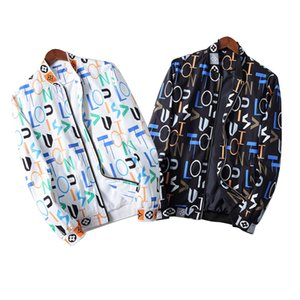 Mens Designer Jackets Windbreaker Sportswear New Spring Autumn Casual Jacket Clothing Zipper Collar Plaid Printed Slim Jacket