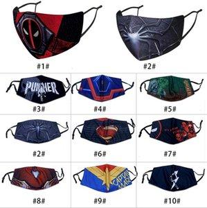masque masque facial design chaud adlut équitation protection contre le froid nouveau masque de l'enfant super-héros spiderman Batman capitaine bouclier punisher Deadpool merveille