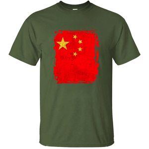 Vintage Fashion China Flag Tshirt Man 100% хлопок Известных Мужчины Смешной девушка мальчик футболка 2020 с коротким рукавом рубашки Tee