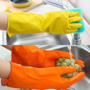 Mutfak Dishewashing Eldiven Ev Temizlik Su geçirmez Lastik Yıkama Eldiven Araçlar Ev işi Lateks Mitt temizlik Uzun Kollu silikon eldiven