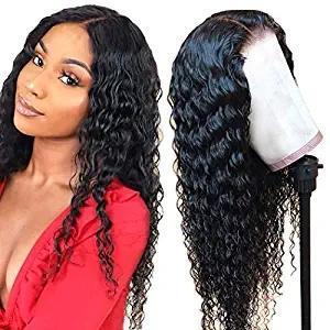 Глубокий парик волны 360 Lace Фронтальная человеческих волос Парики Pre Сорванные с волос младенца Необработанные бразильского Виргинские человека 150% Плотность
