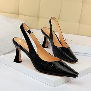 2020 Shoes Mulheres casamento Suede 10cm de altura Salto Bombas Lady Luxo Salto Feminino escarpins Fetish metal Sexy Wedding Party Glitter sapatos