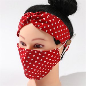 2 adet / lot earloop hairband Kulak Toka Elastik saç bandı Kulak İpi Tutucu Pamuk Yıkanabilir Anti-sis Toz geçirmez maskeler Toptan AHC740 Maske