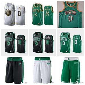 Мужская БостонCelticsДжерси Заявление Performance Swingman Баскетбол Шорты Новый ретро JUST DON Карманные шорты 0808