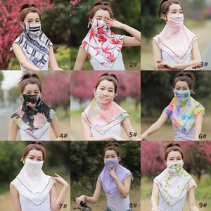 DHL Free Ship, Women Summer Scarf Bandana Sunscreen Motorcycle Scarves Headscarf Neck Face Mask Outdoor Magic Scarves Face Shields FY6133