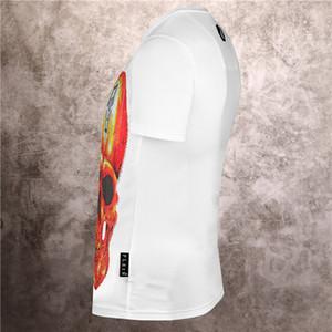 New Luxury skull and Pearl Blood pp Shirt designer short-sleeved summer clothing design men's and women's hoodies
