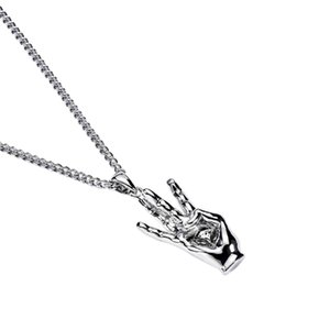 Punk Танцы ожерелья ручной Подвески Hip Hop Медь ожерелье ювелирных изделия родий Metallic Ожерелье для мужчин