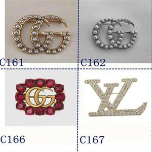 2020 Luxusdesigner Exquisite Doppel Brief GUCCI-Brosche für Frauen Statement Marke CHANEL rooches Pins Accessoires Schmuck Geschenk