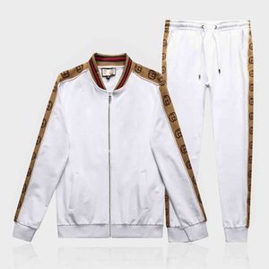 Mens tracksuits outwear 2019 mens hoodie set 2 pieces spring autumn sports track suit men Embroidery jogging suits sweatshirts