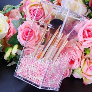 Clear Acrylic Cosmetics Organizer Makeup Storage Holder Box Transparent Fashion Spin Multi-function Makeup Beauty Organizer Box