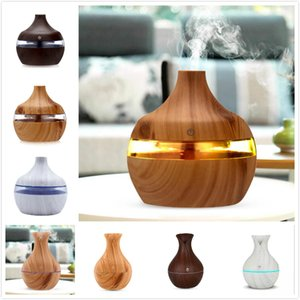 6 ColoAir Humidifierrs Air Aroma Humidifier Wood Grain Aroma Essential Oil Diffuser Ultrasonic Air Purifier For Home Office Car