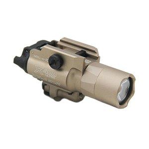 Tactique SF X400 Fusil Ultra LED Pistolet Fusil de chasse Lumière X400U Pistolet lumière blanche avec laser rouge