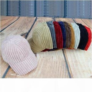 Creative Corduroy Ball Caps Women Men's Solid Stripe Baseball Caps Fashion Street Style Sun Caps Free Shipping