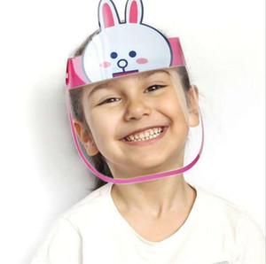 Mignon petite taille enfants enfants Bouclier Visage Couverture Transparent en plastique réutilisable Visière avec protection éponge Visière anti Saliva