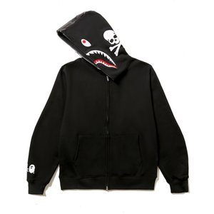 Autumn New Arrival Men's Casual Skull Hooded Sweater Teenager Camo Black Splice Hip Hop Cardigan Jacket