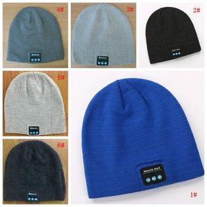 Bluetooth Music Beanie Hat Creative Wireless Smart Cap Headset Speaker Microphone Handsfree Music Knit Hat Fashion Winter Hats DBC BH2679