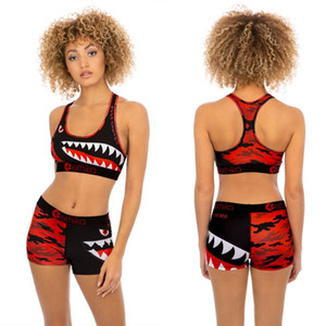 Women Ethika Designer Swimsuit 2 Piece Bikini Set Vest Tank Top Bra And Shorts Swimming Suit Luxury Shark Swimwear Brand Beachwear