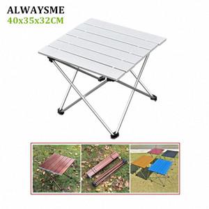 ALWAYSME 40x35x32CM Bunte Aluminium-Legierung Außenklapptisch kampierende Tabelle Wasserdicht Klapptisch für Picknick AJ4f #