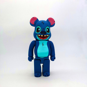 New 28CM 400% Bearbrick Evade Stitch figures Toy For Collectors Be@rbrick Art Work model decorations kids gif1