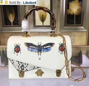 libobo4 2019 CASSIC TOP 488715 Top WHITE LEATHER NEW WOMAN BAG HANDBAG Hobo HANDBAGS TOP HANDLES BOSTON CROSS BODY MESSENGER SHOULDER BAGS