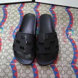Beliebte Marken-echte Leder-Luxus-Frauen-Sandalen Designer Männer Pantoffel Qualität ohne Kasten gibt Verschiffen frei gleiten