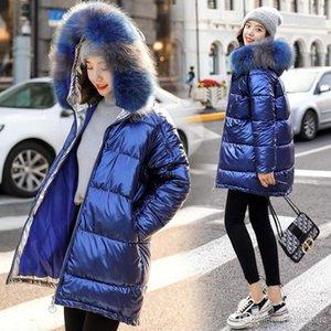 Designer Parkas Winter Womens Fashion Parka Warm Fur Collar Hooded filling Cotton Down Outwear Female Trench Coat M-XXL