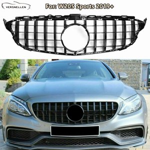 W205 New C-Class Front Racing Grills for Mercedes Benz W205 C180 C200 C250 C43 Sports 2019+ Sedan GT Style Front Face Mesh