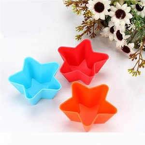 Silicone Cake Liner Muffin Case Baking Mold Cup Cupcake Star Rose Soap Mold Handmade Chocolate Cake Soap Decoration Silicone Molds Crafts