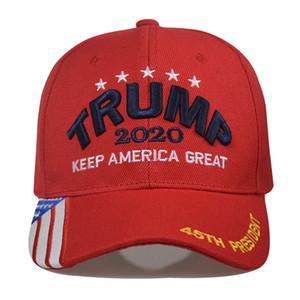 15styles gorra de béisbol Trump Keep America grande otra vez Caps 2020 Campaña EE.UU. 45 Sombrero de la bandera americana bordada lienzo sombreros del partido GGA3611-1