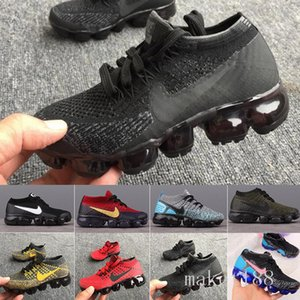 Nike Vapormax flyknit air max  Rainbow Air 2018 Style Fly 2.0 Mens Women Shoes Shock Kids Running Shoes Fashion Children Casual Sports Sneakers Shoes RTG6H
