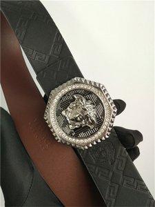 Cinturones Versace Hombre para mujer Cinturones de diseño marca de la correa de oro de la astilla de la hebilla de alta calidad 1Gceinture correa gg mujer de la correa