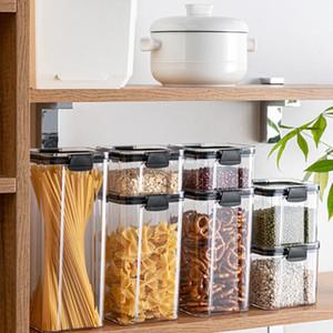 صديقة للبيئة خزائن المطبخ حاويات ثلاجة منظم فول الحبوب صندوق تخزين الحاويات يختم حالة واضحة