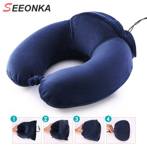 U-Shaped Travel Pillow Neck pillow Comfortable Memory Foam Adjustable Airplane Car Flight 360-Degree Head Support