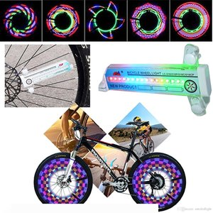 Sports and Outdoors Colorful Bicycle Bike Cycling Wheel Spoke Light 32 LED 32 pattern Waterproof Bicycle Accessories