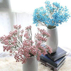 BluePinkYellow Gypsophila Artificial Flower Baby Breath Fake Silk Floral Plant Home Wedding Party Decoration Products Pet Supplies