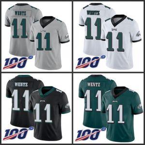 PhiladelphiakartallarErkekler # 11 Carson Wentz Yeşil Erkekler Kadınlar Gençlik DikişliNFL Sınırlı Rush 100 Sezon Jersey
