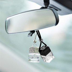 8ML Ambientador para el coche que cuelga la botella de cristal de perfume auto difusor de aceites esenciales botella de la fragancia del ornamento Accesorios Interior