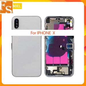 iphone 8 8G 8plus X XR XS MAX Arka Kapak + Orta Şasi Çerçevesi + Tam Flex Kablo Parçaları + SIM Kart Tam Konut Case Montajı İçin