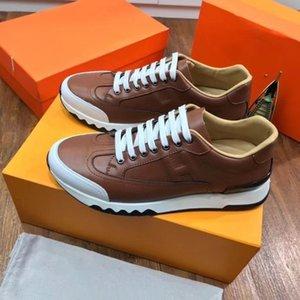 Hermes 2020 Yeni H Sneakers En Mischpalette Moda Erkekler Rahat Rahat Düz ayakkabı yüksek ayakkabılar xzm013