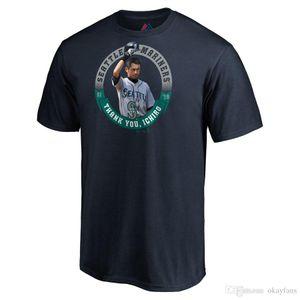 Ichiro Suzuki Seattle Mariner Majestic Retirement Salute Stat Thank You T-Shirt