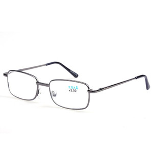 Metal Frame Reading Glasses Relieve Visual Fatigue Presbyopic Glasses Ultralight Clear Optical Glass Lens Parents Eyeglasses