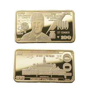 Trump 2020 Oro e Argento Medaglia 24k dorato in rilievo Moneta Commemorativa Trump Piazza del distintivo di trasporto